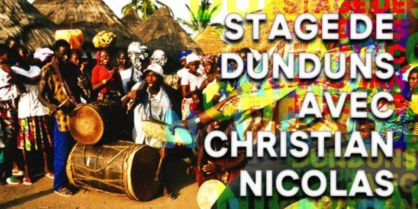 Stage de Dunduns Mandingue avec Christian Nicolas.